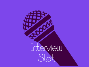 Purple microphone Interview Slot