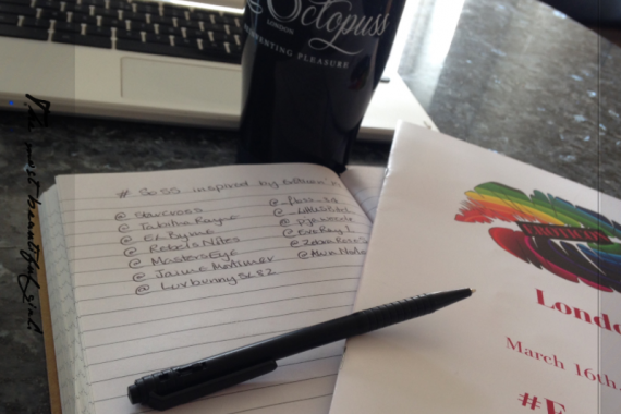 Eroticon Programme, notebook and pen