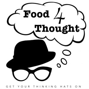 Thoughtful hat and glasses logo